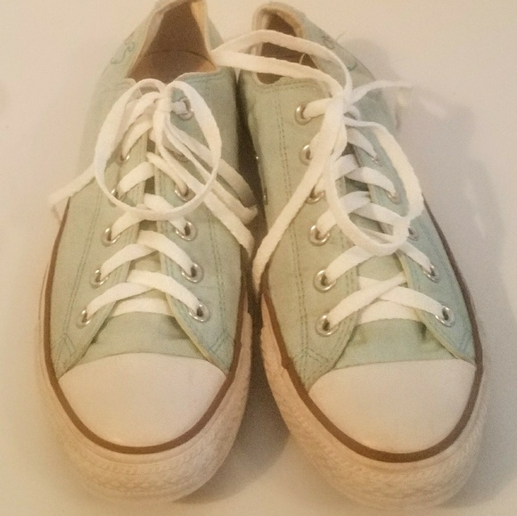 Converse Shoes - Converse 7.5M Seafoam Green All Star Sneakers 5adcb7520